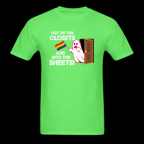 out of the closets ghost - Men's T-Shirt