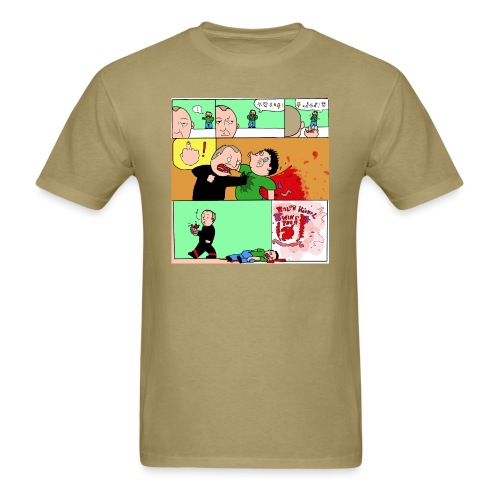 wingtsunkungfu cartoon - Men's T-Shirt