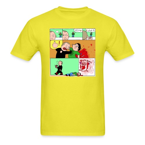 wingtsunkungfu cartoon - Men's T-Shirt