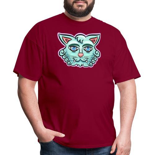 Happy Cat Teal - Men's T-Shirt