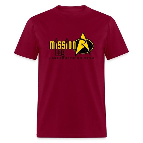 Logo Wide 2 Color Black Text - Men's T-Shirt