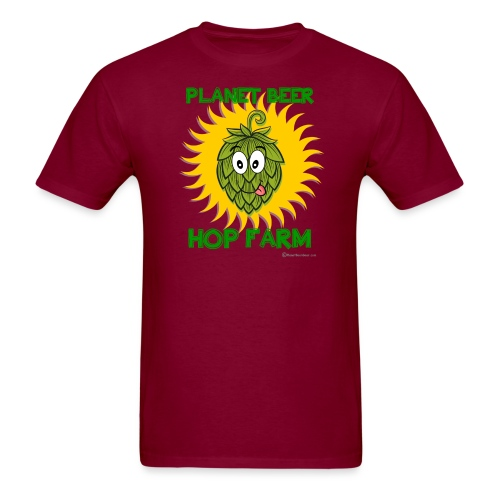 Planet Beer Hop Farm - Men's T-Shirt
