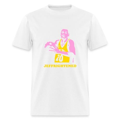 jeffrightened2 b8a - Men's T-Shirt