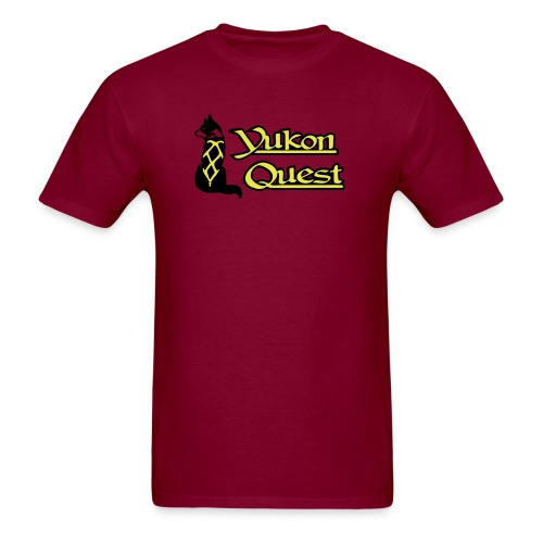logo yukon quest 2c on white - Men's T-Shirt