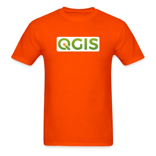 qgis_600dpi_white_bg - Men's T-Shirt