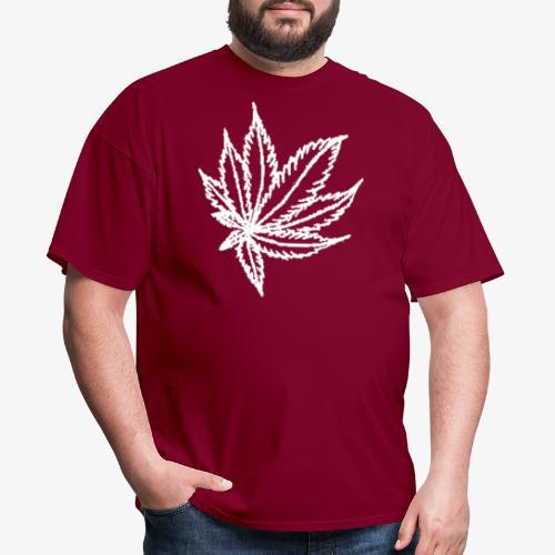 white leaf - Men's T-Shirt