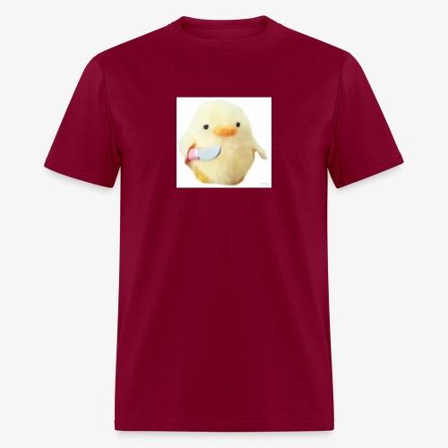 Cute Chicken with Knife Shirt! - Men's T-Shirt