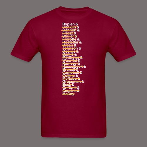 Washington Franchise QBs - Men's T-Shirt