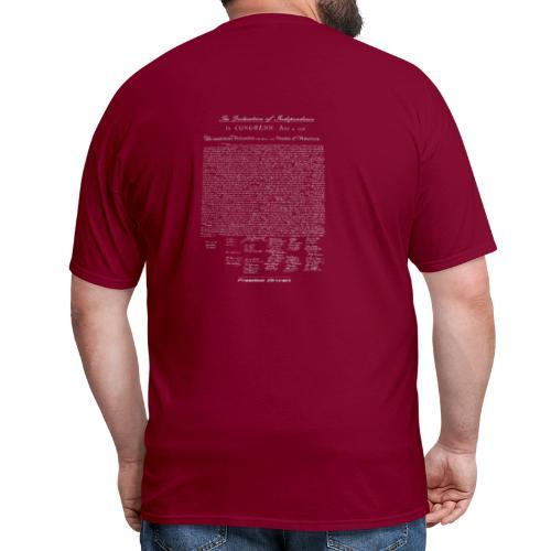Declaration of Independence Grey Lettering - Men's T-Shirt