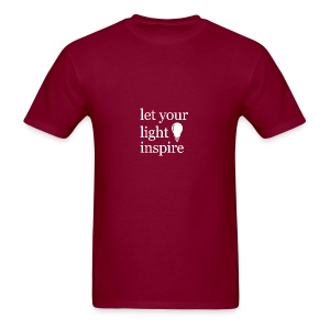 Let Your Light Inspire Tee (white font) - Men's T-Shirt