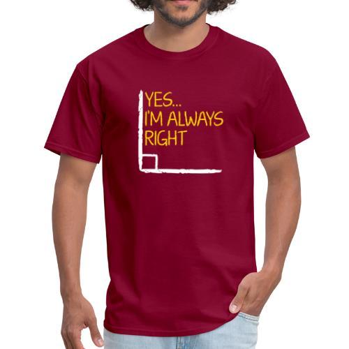 Right Angle Funny Math Teacher Student - Men's T-Shirt