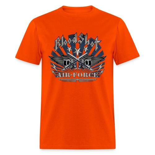 BloodShot Air Force with black - Men's T-Shirt