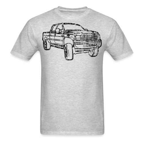 Ford Truck F250 Distressed - Men's T-Shirt