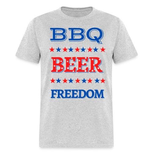 BBQ BEER FREEDOM - Men's T-Shirt