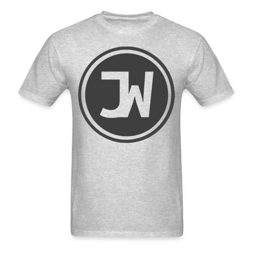 Grey Johannes With Logo - Men's T-Shirt