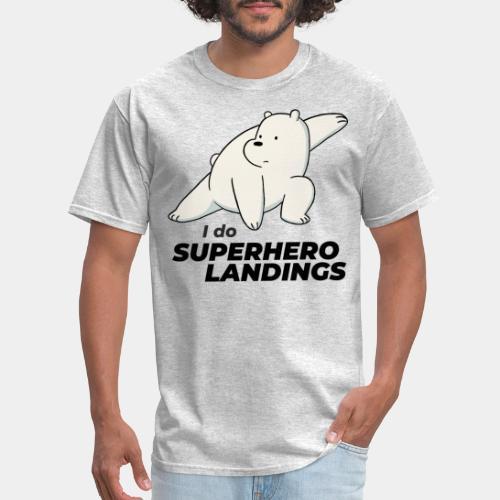 superhero landing hero - Men's T-Shirt