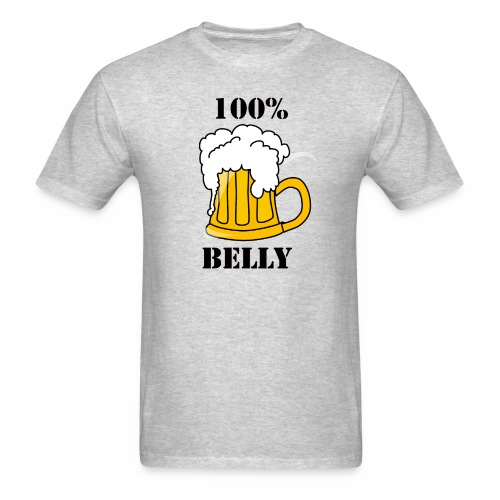 100% BEER Belly - Men's T-Shirt