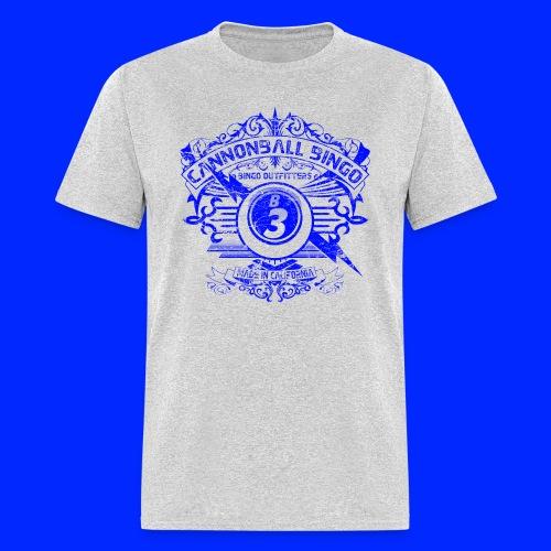 Vintage Cannonball Bingo Crest Blue - Men's T-Shirt