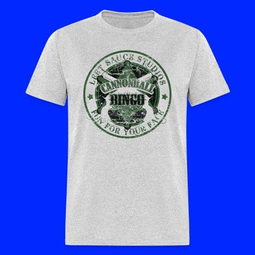 Vintage Cannonball Bingo Badge Dark Green - Men's T-Shirt