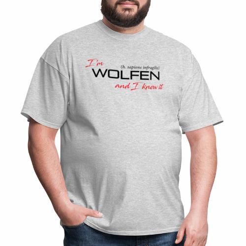 Wolfen Attitude on Light - Men's T-Shirt