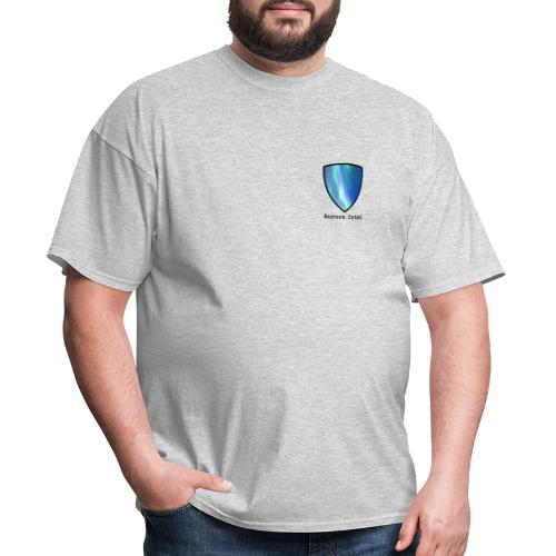 Aurora Intel shield with text - Men's T-Shirt