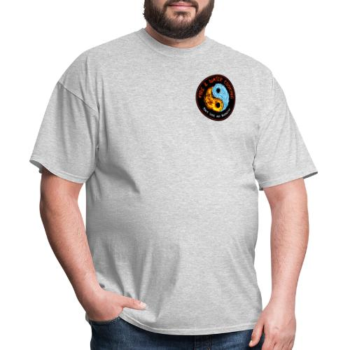 Fire & Water Cooking Small Left Chest Logo - Men's T-Shirt