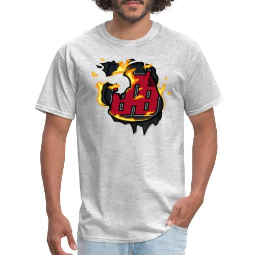 BAB Logo on FIRE! - Men's T-Shirt