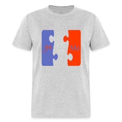 You & Me valentines day T-Shirt - Men's T-Shirt