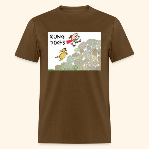 Dog chasing kid - Men's T-Shirt