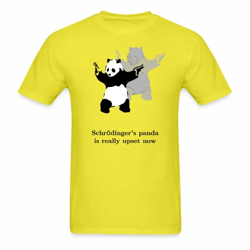 Schrödinger's panda is really upset now - Men's T-Shirt