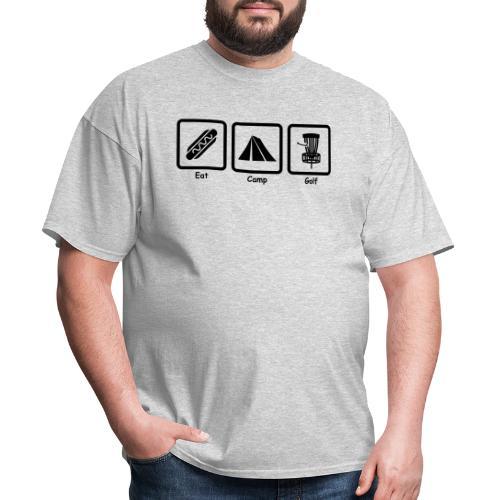 Eat Camp Disc Golf Copyright Kathleen Loraine - Men's T-Shirt