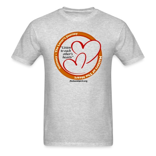 Matters of the Heart T-Shirt: Listen to each other - Men's T-Shirt