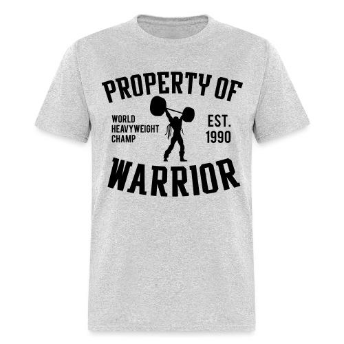 propertyof warrior 1color - Men's T-Shirt