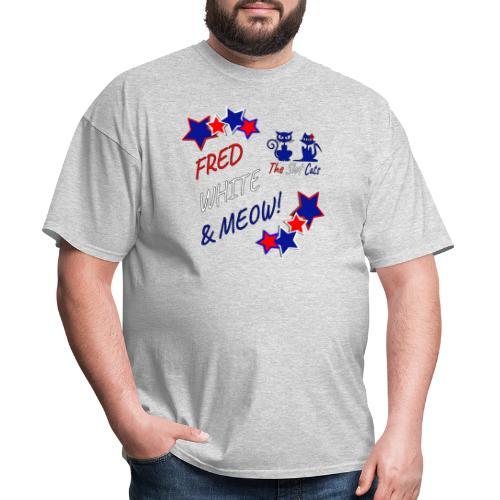 FRED WHITE BLUE SLOTCATS - Men's T-Shirt