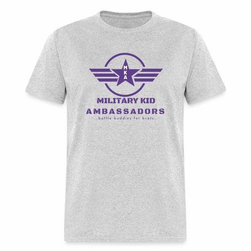 Military Kid Ambassador Purple Logo - Men's T-Shirt