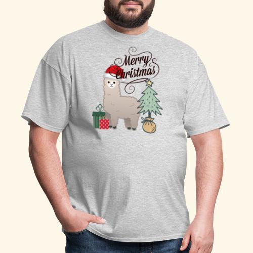 Christmas Lama - Men's T-Shirt