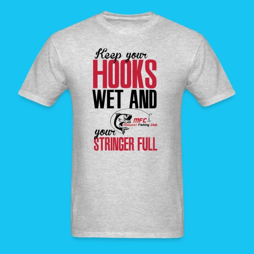Hook Wet Black and Red - Men's T-Shirt