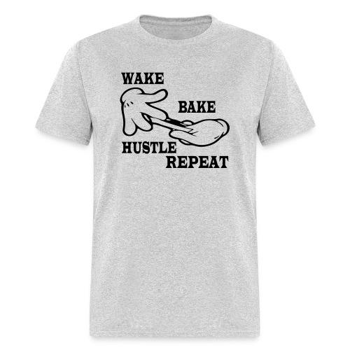 Wake bake hustle repeat - Men's T-Shirt