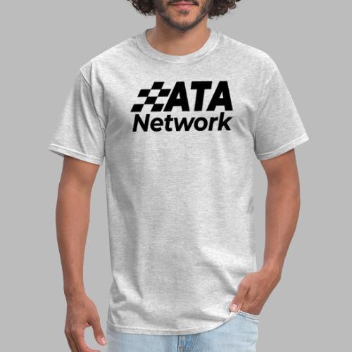 ATA Network Black Stacked Logo - Men's T-Shirt