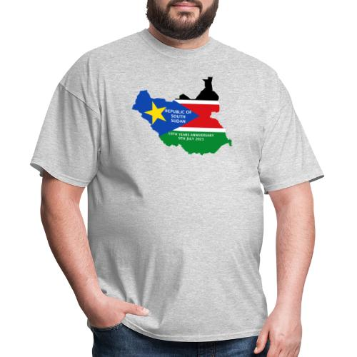 south sudan 10th years anniversary - Men's T-Shirt
