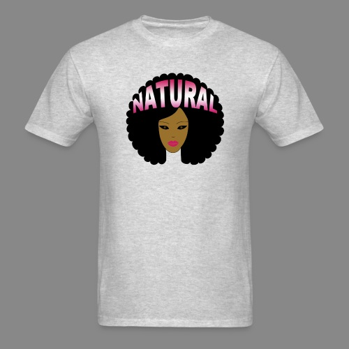 Natural Afro (Pink) - Men's T-Shirt
