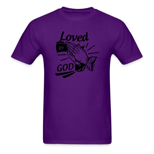 Loved By God (Black Letters) - Men's T-Shirt