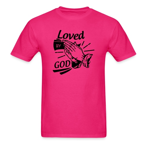 Loved By God (Black Letters) - Men's T-Shirt
