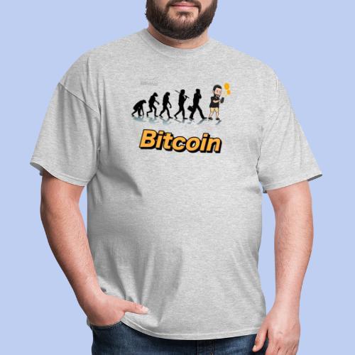 Evolucion del Hombre Bitcoin2 - Men's T-Shirt