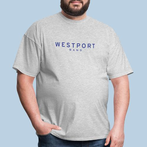 Westport Text Blue on transparent - Men's T-Shirt