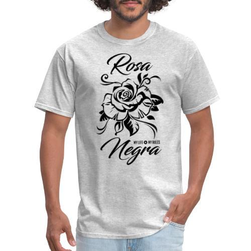 black rose rosa negra - Men's T-Shirt