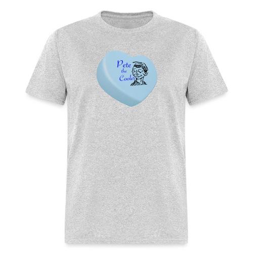 Pete the Cooler Candy Heart - blue - Men's T-Shirt