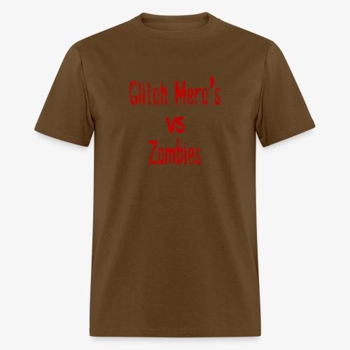glitch zombie red - Men's T-Shirt