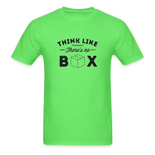 Think Like There Is No Box - Men's T-Shirt
