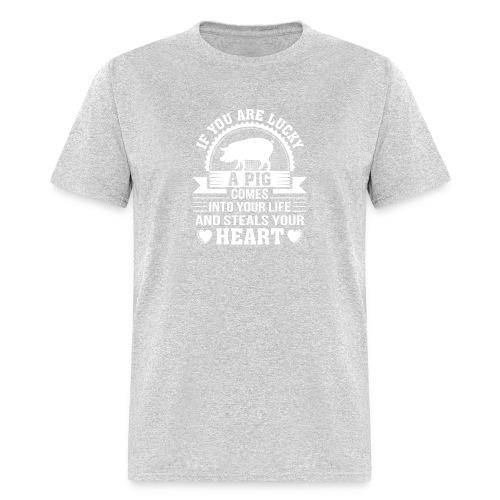 Mini Pig Comes Your Life Steals Heart - Men's T-Shirt